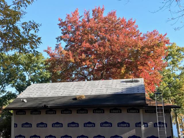 Voluntown, CT - This roof in Voluntown Ct is prepped with all the GAF accessories and ready for the new GAF Timberline HDZ shingles to be installed next!