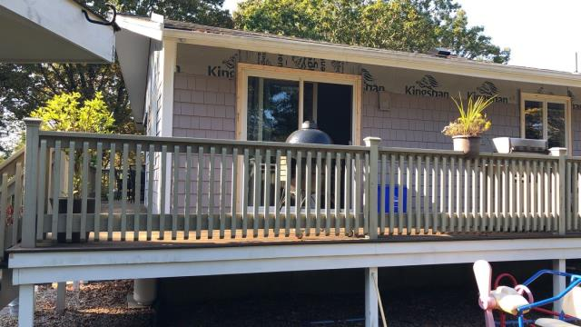 Westerly, RI - Installing vinyl siding on this home in westerly RI. Cedar Impressions are a great option for low maintenance with a great wood look!