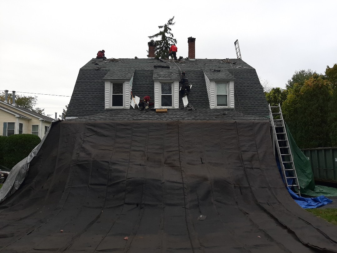Westerly, RI - Working in Westerly today. Replacing roof shingles due to leaks. Crew is stripping now and then we'll inspect once done.