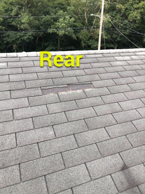 Old Lyme, CT - Missing shingles on this roof in Old Lyme Ct need to be repaired. High winds damaged this coastal home. Full roof replacement needed. GAF Timberline HDZ roof shingles a re the best option with a no wind limit warranty!