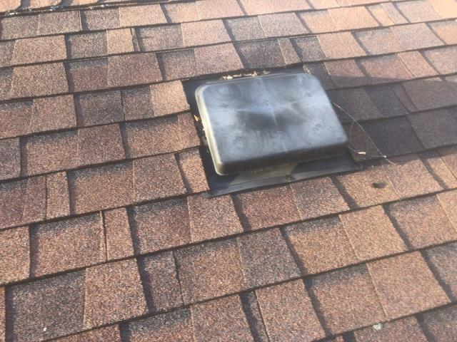 Stonington, CT - Repairing this roof vent in Pawcatuck CT this morning. Old roof vent is leaking and needs to be replaced.