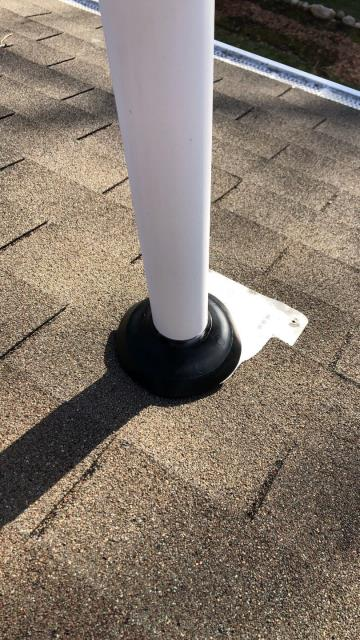 Stonington, CT - Roof repair in Pawcatuck  CT. Pipe boot flashing was leaking.
