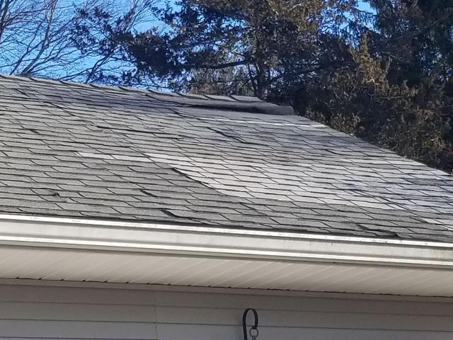 Stonington, CT - High winds have caused roof damage on this property in Stonington CT. As a roofing company that specializes in insurance work we will walk this homeowner thru the process of getting there home owners insurance to cover the damage if possible. A full roof replacement may need to be done using GAF Timberline HDZ roofing shingles.