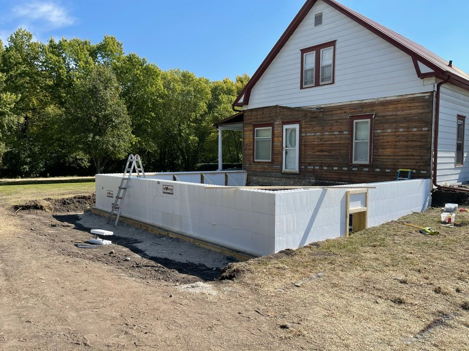 Concordia, KS - ICF Basement Foundation Addition