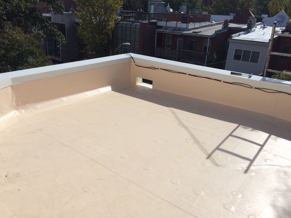 Washington, DC - Just completed anorthed roof repair