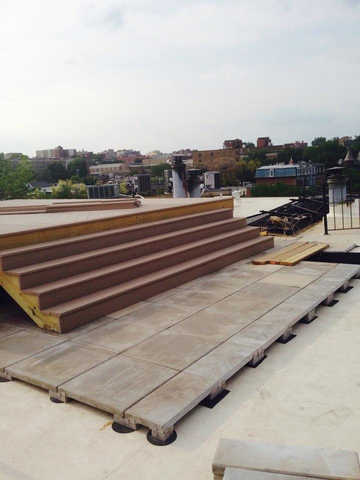 Washington, DC - New Sun deck and pavers.