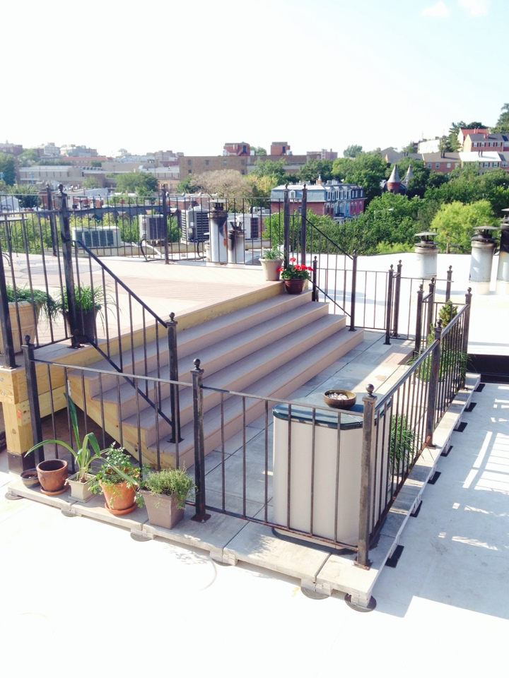 Washington, DC - The new Sun Deck and pavers are finished...