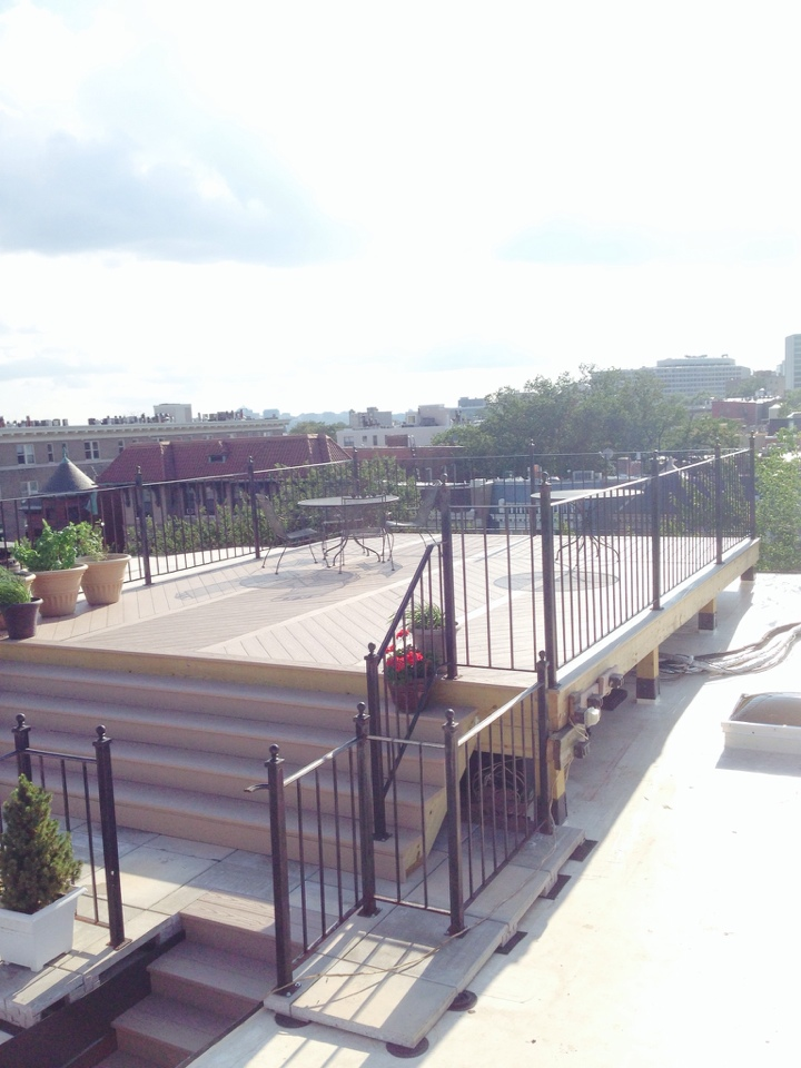Washington, DC - The New Sun Deck and Pavers are completed..