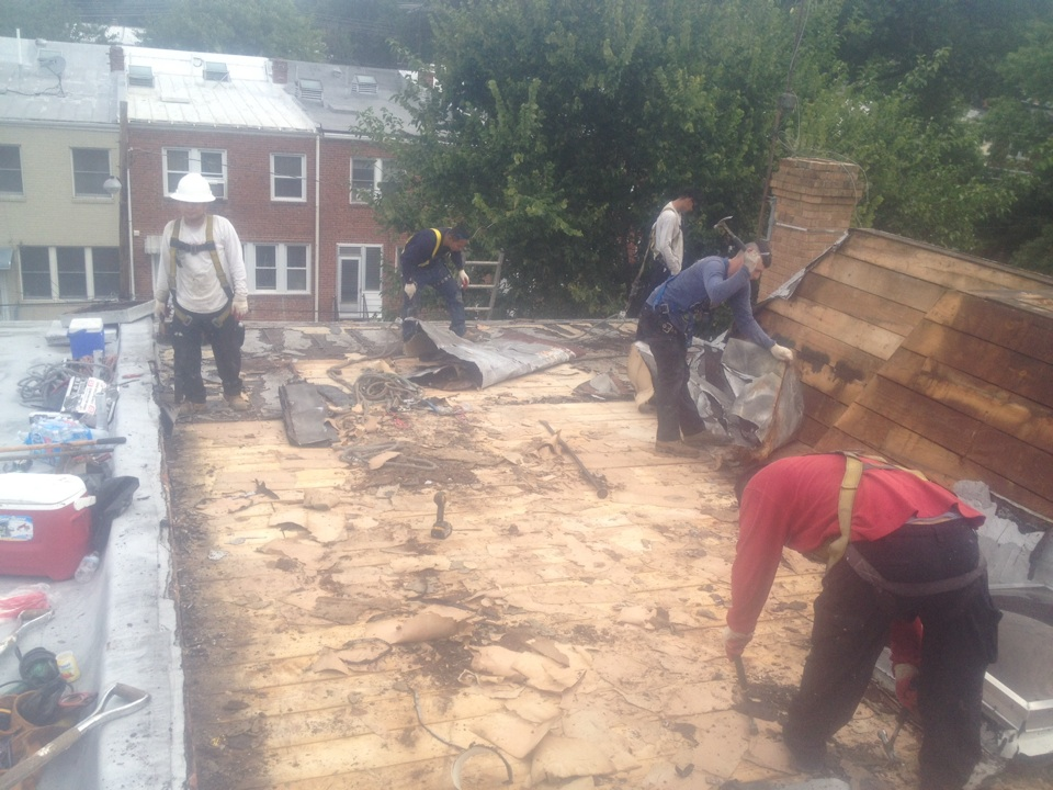 Washington, DC - I'm tearing off another roof in NW in DC