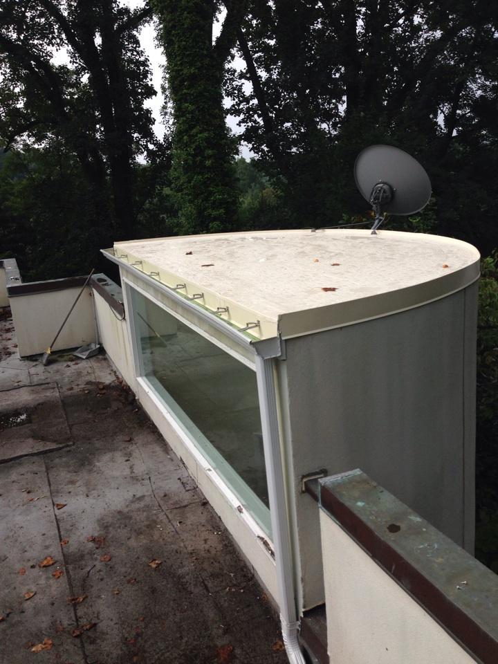 Washington, DC - Installing a new fiber tite flat roof.