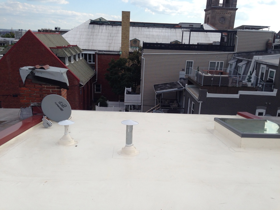 Washington, DC - Just finished a fibertite flat roof