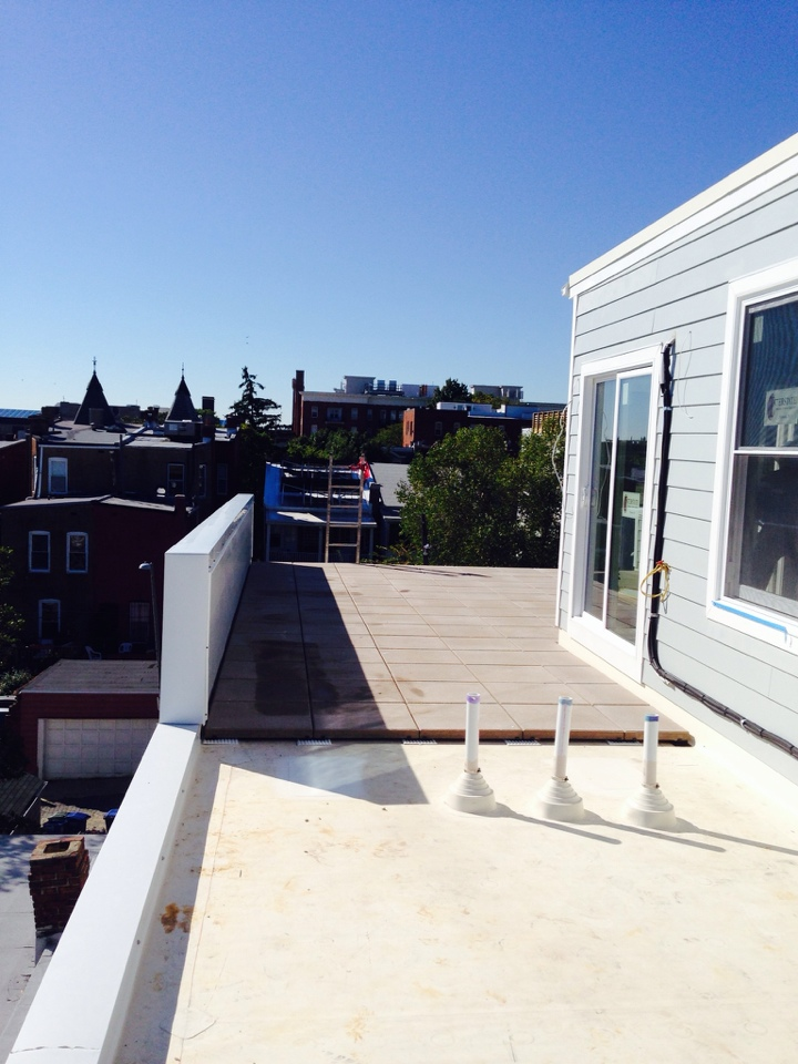 Washington, DC - Roof pavers is done..