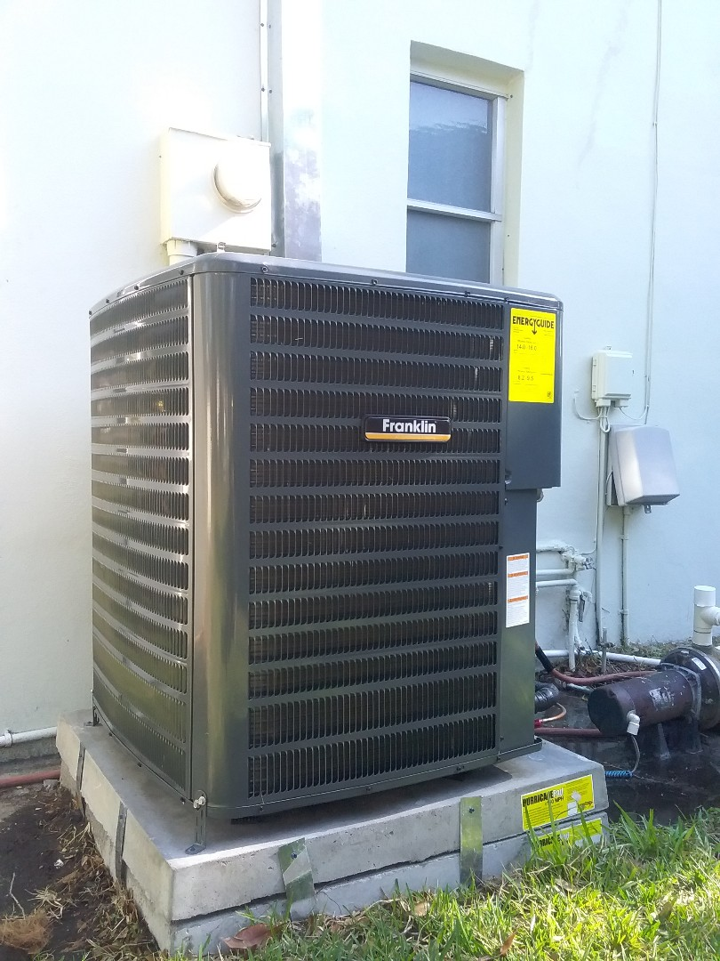 Dunedin, FL - Installation of a Franklin 3 ton 16 seer heatpump split system including 10 year parts and labor coverage