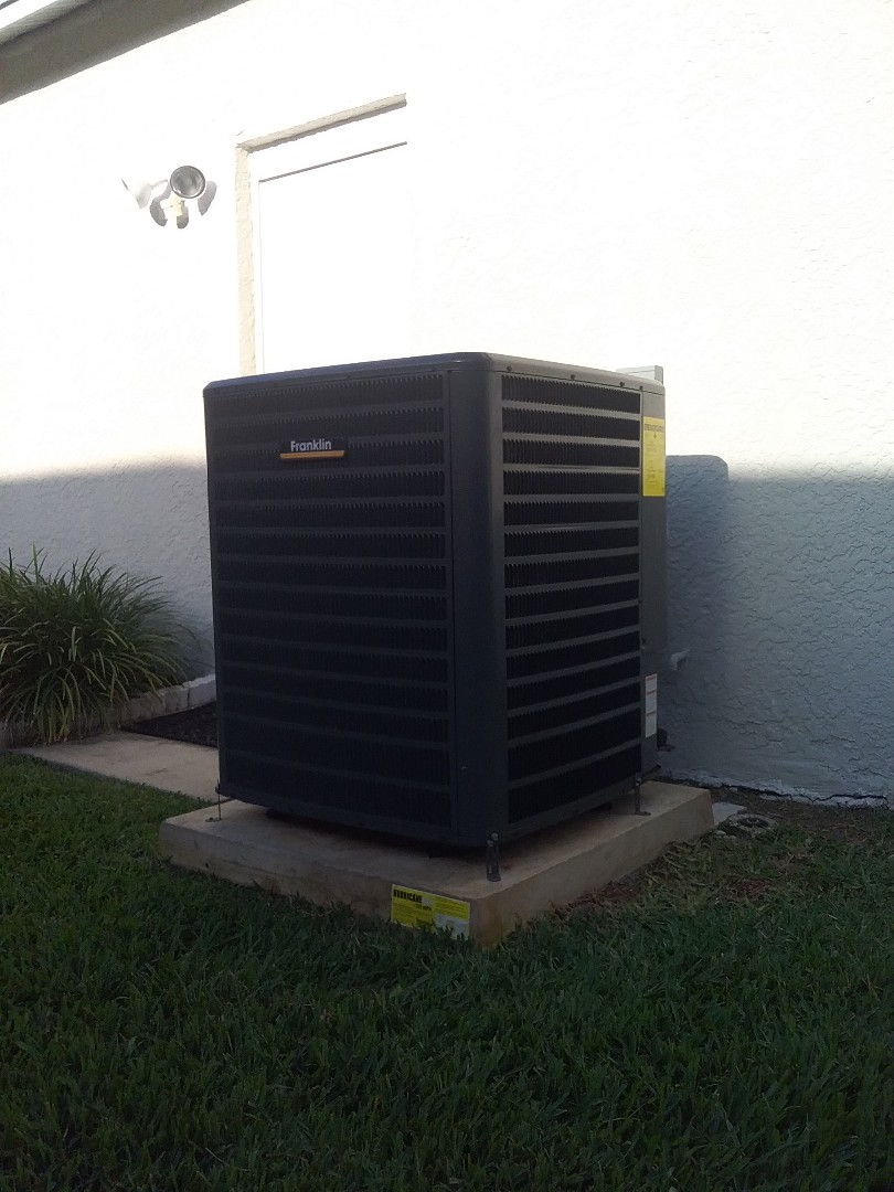 Tampa, FL - Installation of a 5 ton Franklin 16 seer two stage heatpump split system