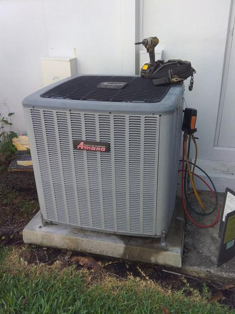 Dunedin, FL - Our maintenance technician Ben, perform maintenance an A/C preventative maintenance inspection and filter change.