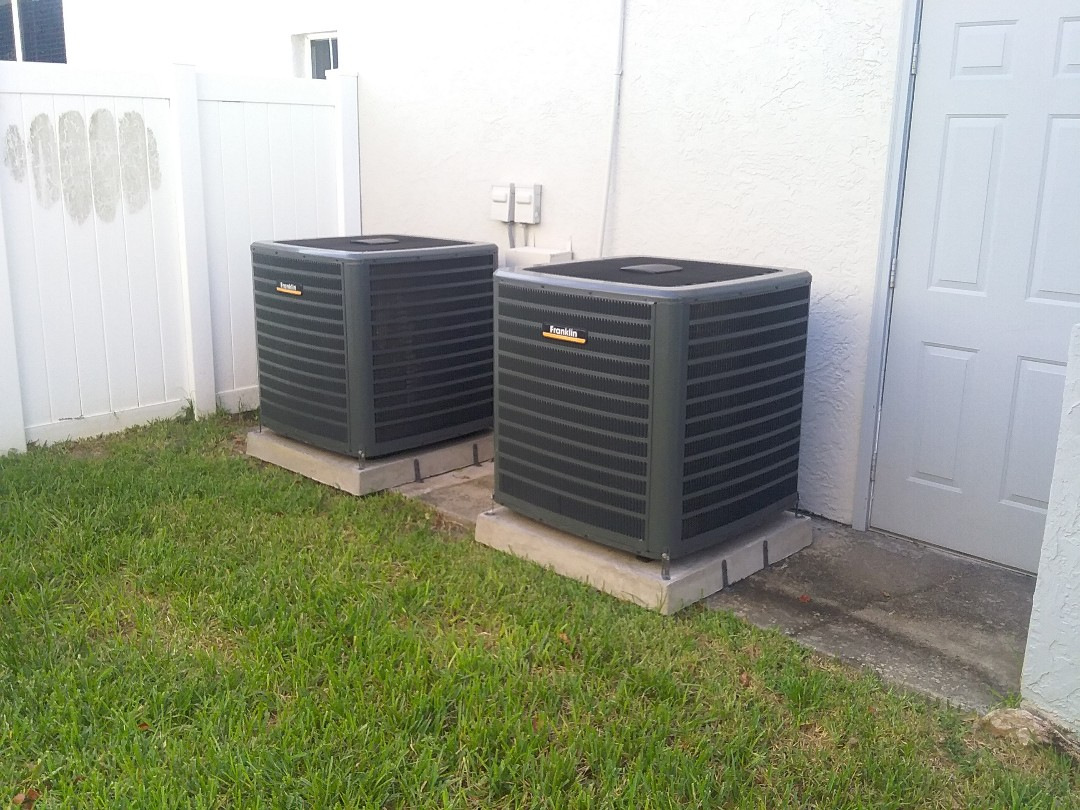 Seminole, FL - Installation of 2 Franklin 16 seer 2 stage split systems. Including 10 year parts and 10 year labor coverage