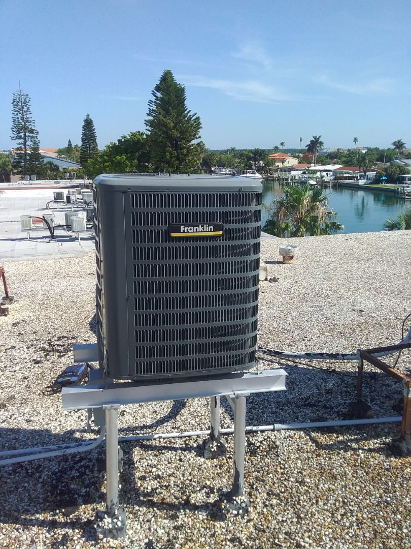 Dunedin, FL - Installation of a Franklin 16 seer split system including 10 year parts and 10 year labor coverage.