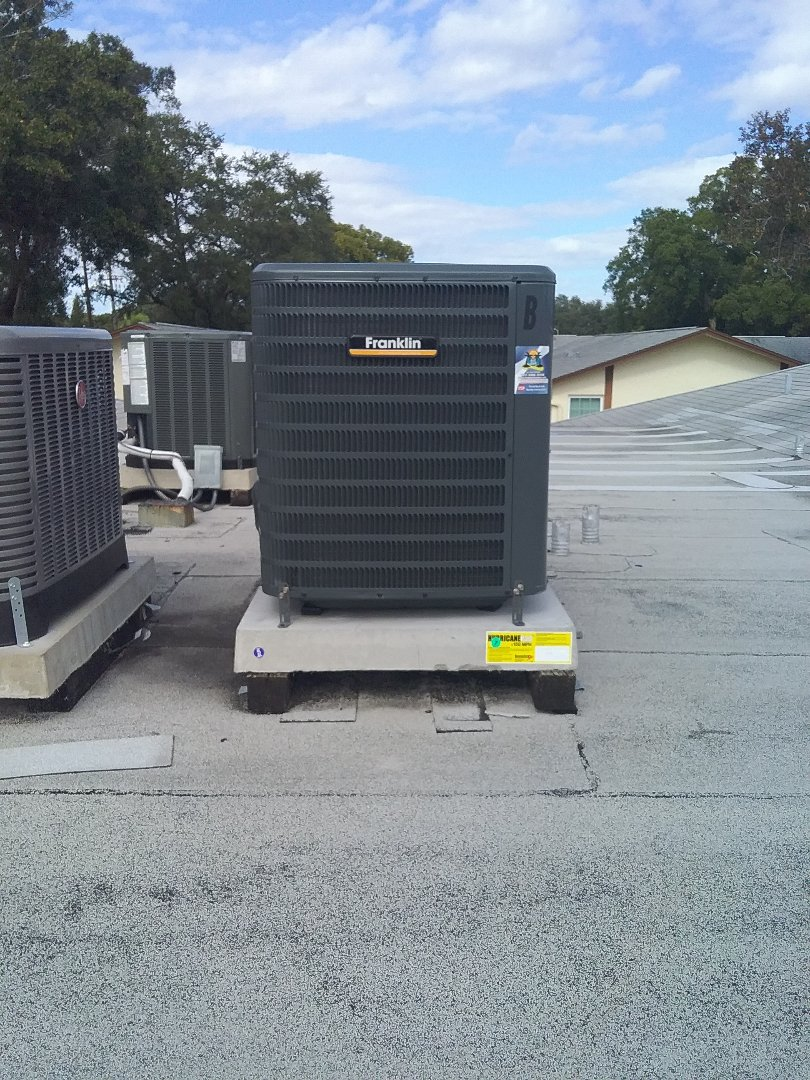 Palm Harbor, FL - Installation of a Franklin 16 seer 2 ton HVAC system including 10 year parts and 10 year labor coverage.
