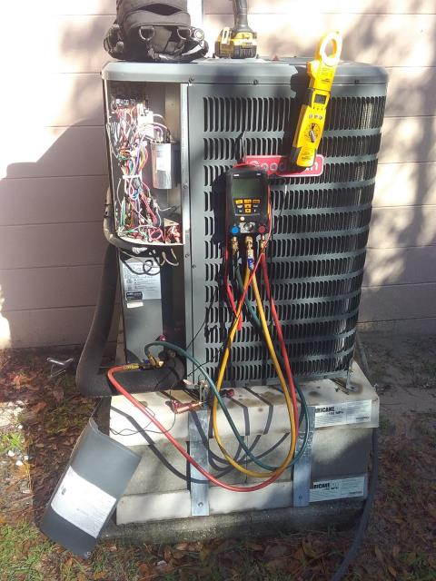 Clearwater, FL - 12/23/19- Our valued and skilled team member, Ben Decker performed preventative maintenance on or valued VIP customer's A/C System.   He checked it all out to see if the A/C had a clean bill of health.   Our PM services are detailed and thorough.