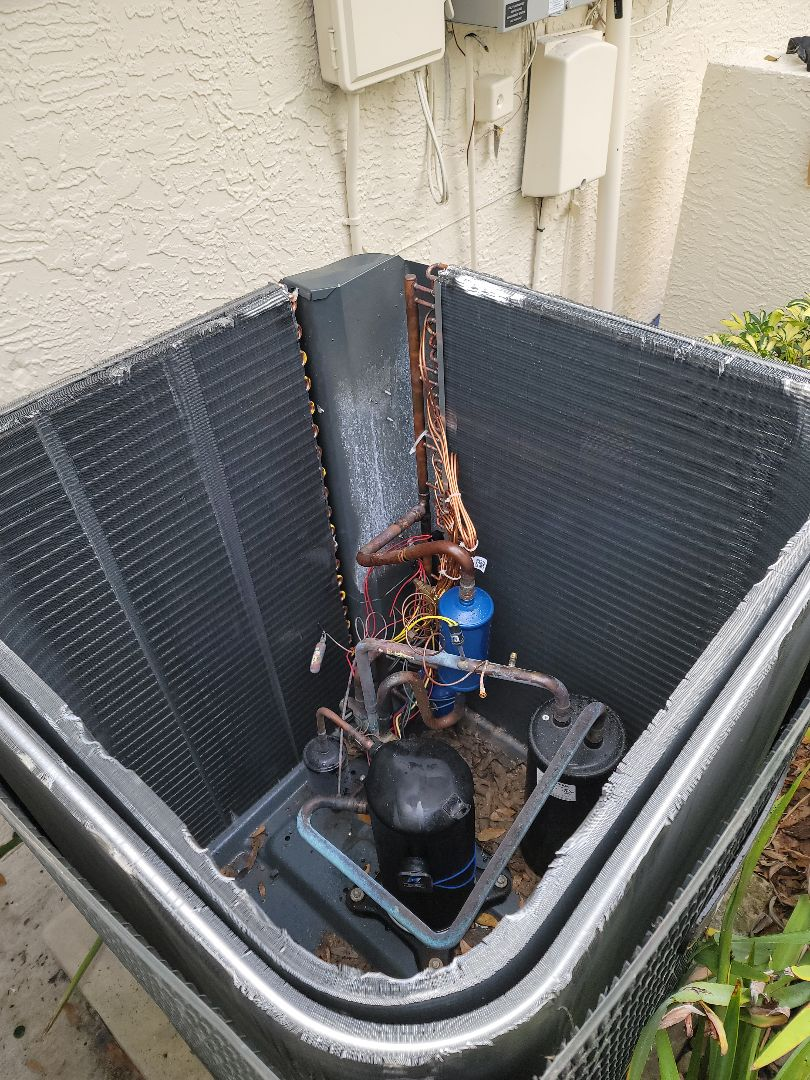 Palm Harbor, FL - Replacing a leaking condenser coil