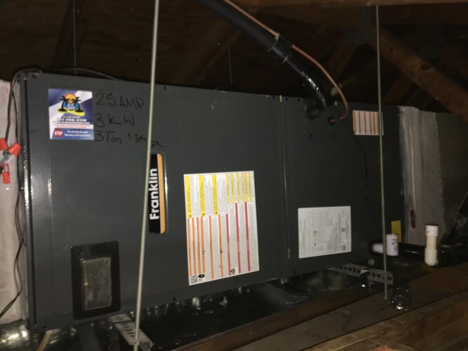 Dunedin, FL - Installed new 3 ton heat pump