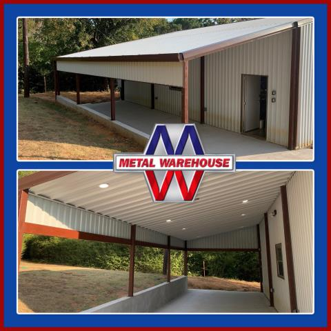 Whitesboro, TX - Nice covered carport/porch great for rainy days and night! Metal Warehouse has all sorts of things to offer you. Metal Warehouse specializes in Metal Building steel. Metal frames for your building, carport, loafing shed, any metal structure are more durable and will last longer than a wood frame. Come by and see us and see what we can offer you, on Hwy 82 in between Sherman, TX and Whitesboro, TX. Check us out online at MetalWarehouseinc.com #MetalWarehouse