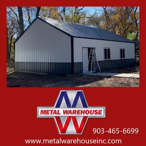 Pottsboro, TX -  MBH Construction just completed this beautiful new metal building!!