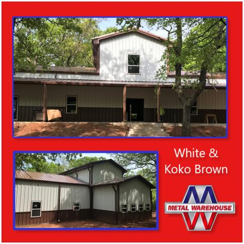 Pottsboro, TX - Metal warehouse provided for this Barndominium in Pottsboro, TX.  Give us a call for your next Metal building