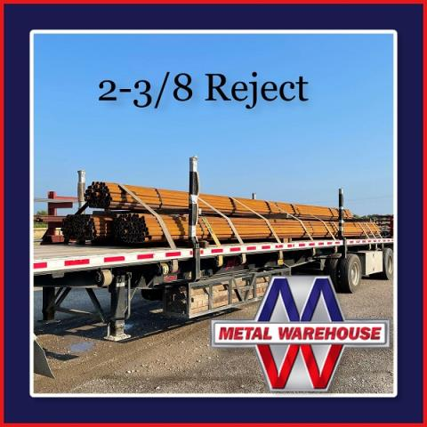 """Sherman, TX - Metal Warehouse just got a truck load of 2-3/8"""" Reject Pipe, come and get it while supplies last! It wont last long. Give Metal Warehouse a call or stop by and see us for all your metal needs. #MetalWarehouse"""