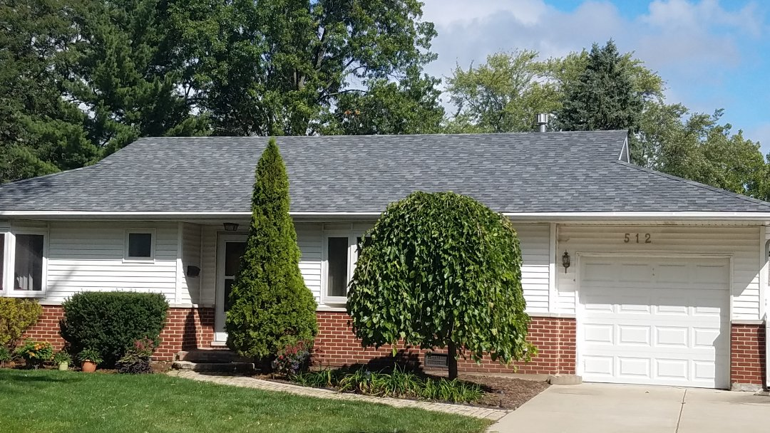 Elk Grove Village, IL - Roofing project complete in Elk Grove and Ridgewood Road brand new look to the house