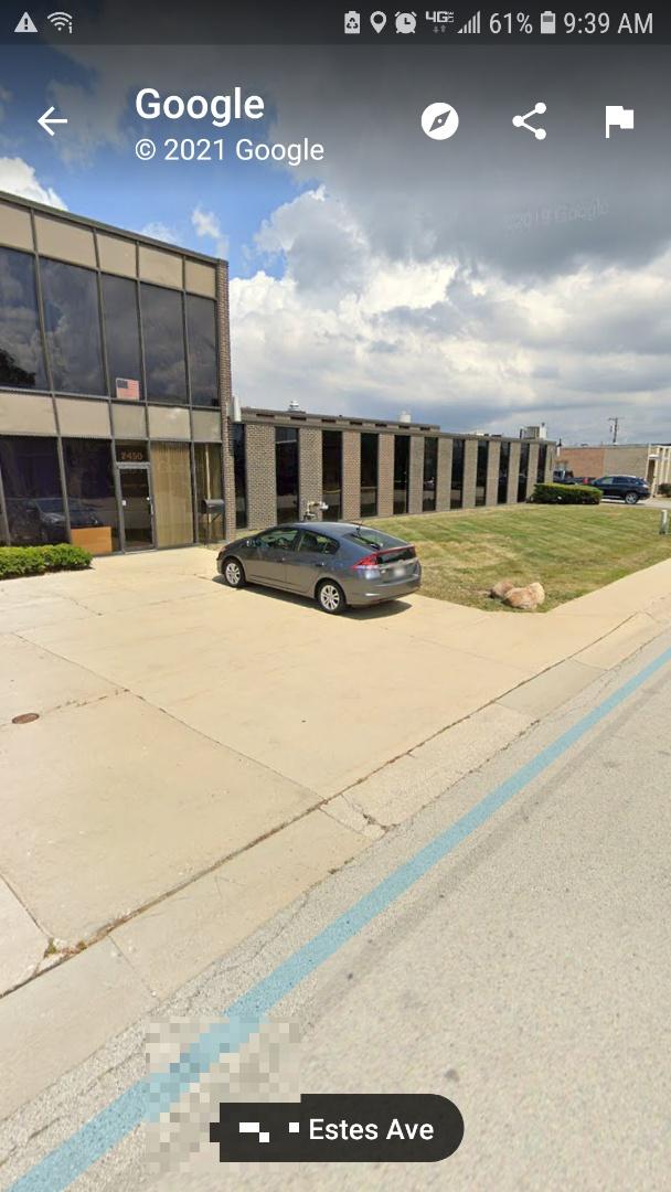 Elk Grove Village, IL - Initial roof inspection commercial building in Elk Grove Village Illinois and Estes Avenue