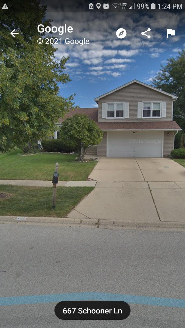 Elk Grove Village, IL - Finalizing agreement to do repair on leaking patio roof in Elk Grove on Schooner Lane