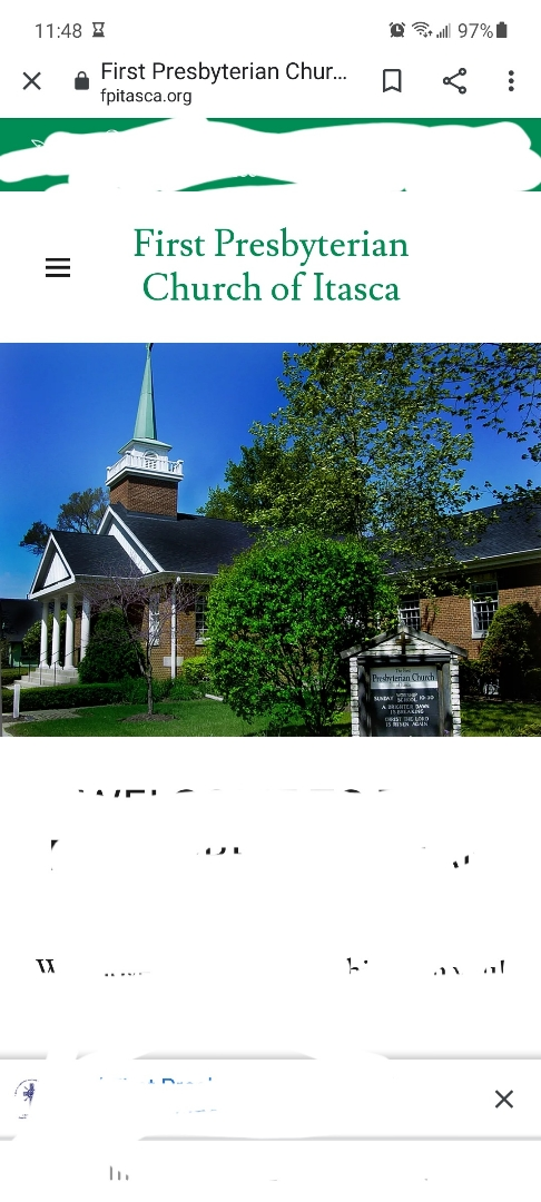 Itasca, IL - Initial inspection to diagnose leaking and hail damage at 1st Presbyterian Church of Itasca in Itasca