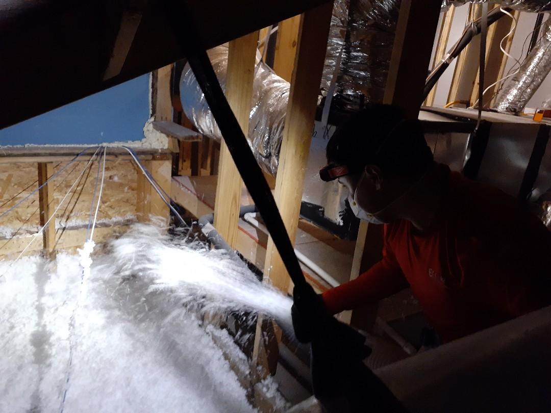 Houston, TX - R-30 Blown fiberglass in attic