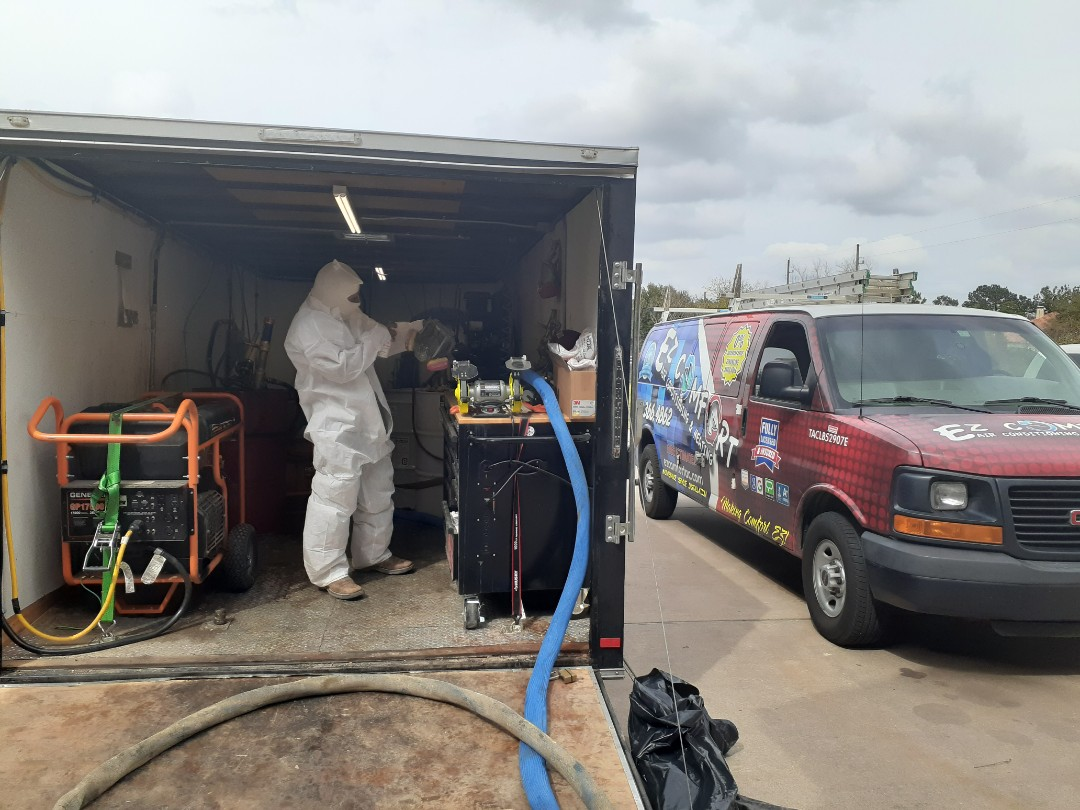 "Cypress, TX - Roof deck   R-21 5.5"" open cell spray foam"