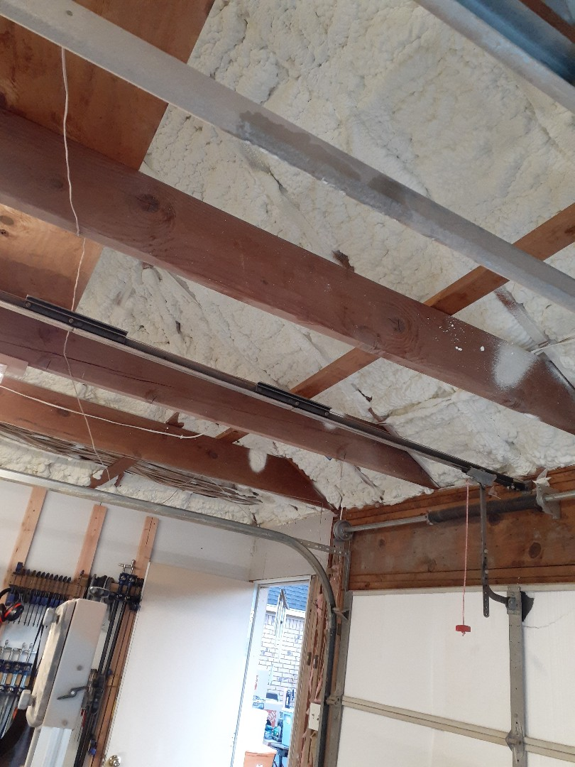 "Houston, TX - 5.5"" open cell spray foam in garage ceiling"