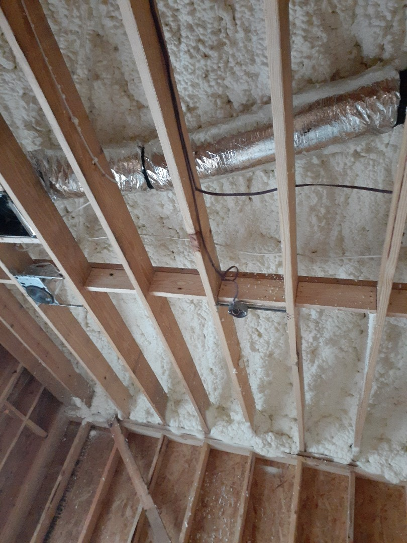 Houston, TX - R-21 Open cell spray foam in  Roof deck