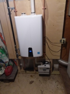 Watertown, MA - Tankless water heater heater Navien install