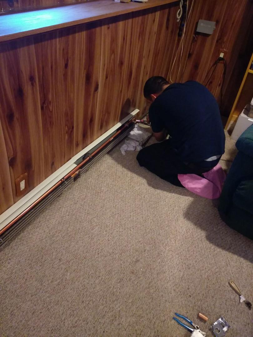 Boston, MA - New baseboard heat installation