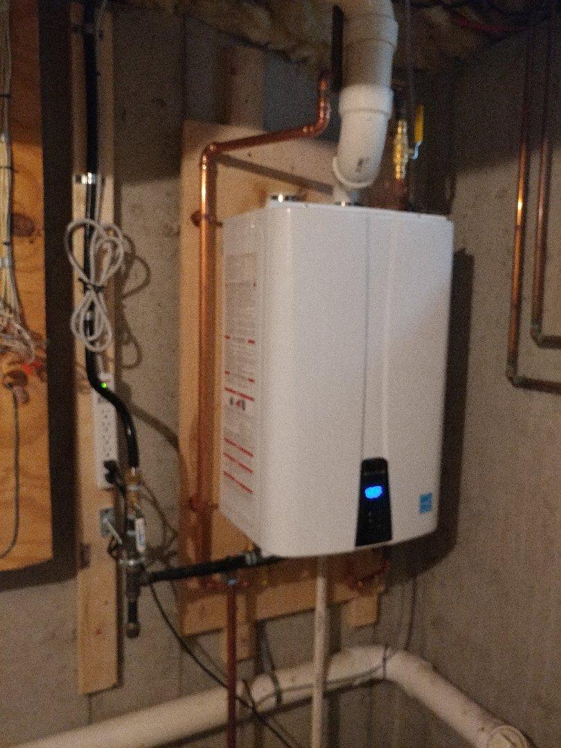 Waltham, MA - Navien tankless install