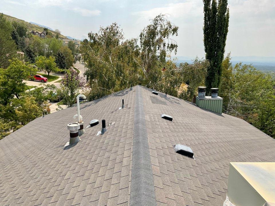 Salt Lake City, UT - Roof inspection on east bench, Salt Lake City.