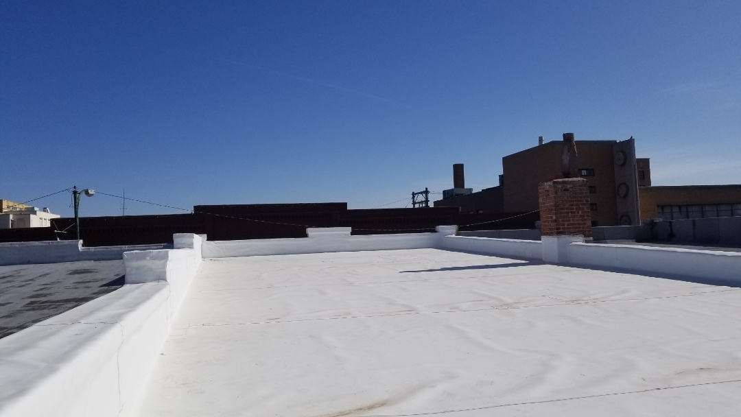 Hays, KS - Genflex TPO Rhino Bond roof inspection. Roof installed by Roofmasters Roofing and Sheet Metal.