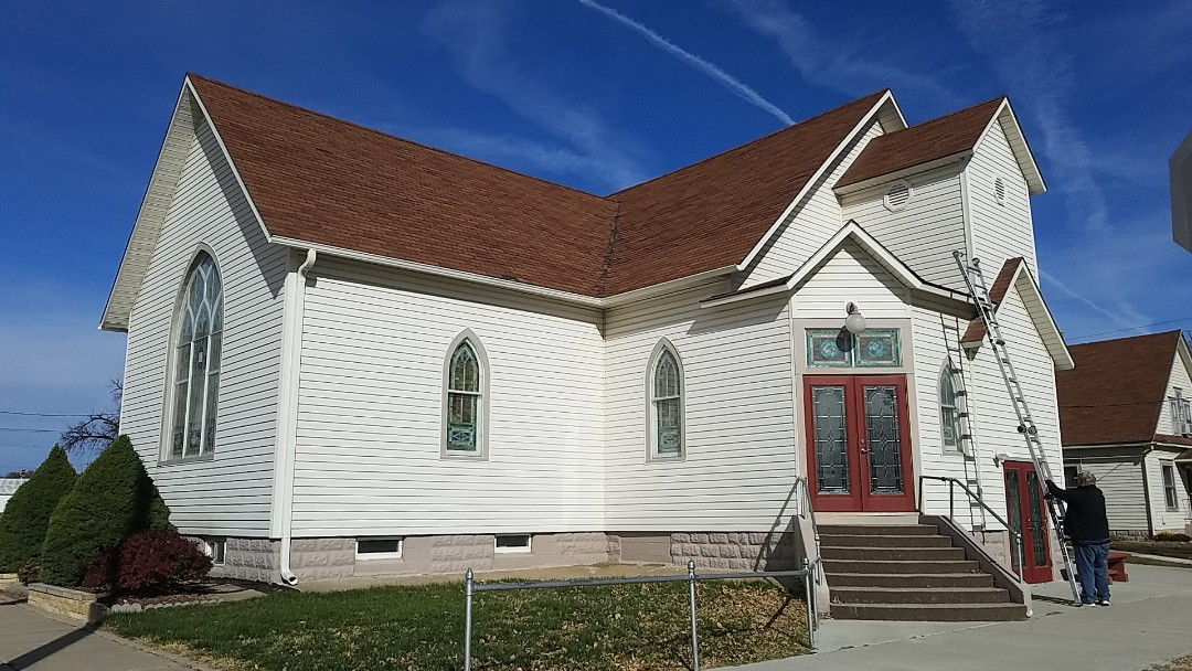 Portis, KS - This beautiful church will stand another hundred years with a new roofing system from Roofmasters Roofing and Sheet Metal.