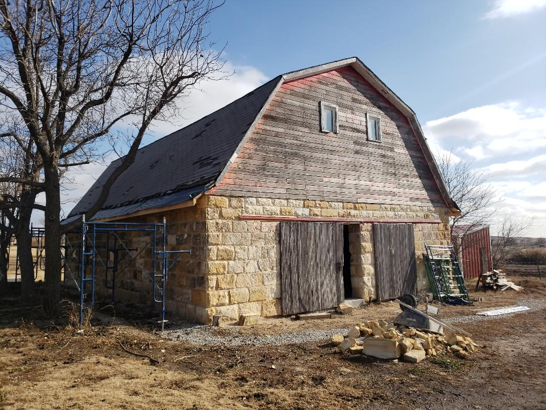 Ellis, KS - Count on Roofmasters to walk you through the entire process of getting a new roof.  This century old barn is will look great with a 26 gauge metal roofing system.