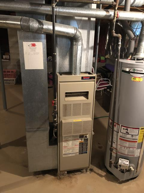 Gahanna, OH - I installed a Carrier 80% 70,000 BTU Gas Furnace. With the installation, a scheduled maintenance agreement is received for a year.