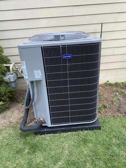 Lewis Center, OH - I performed an installation inspection on a Carrier 96% Two-Stage 120,000 BTU Gas Furnace and a Carrier 16 SEER 5 Ton Air Conditioner. Everything checked out as it should. System is operational upon departure.