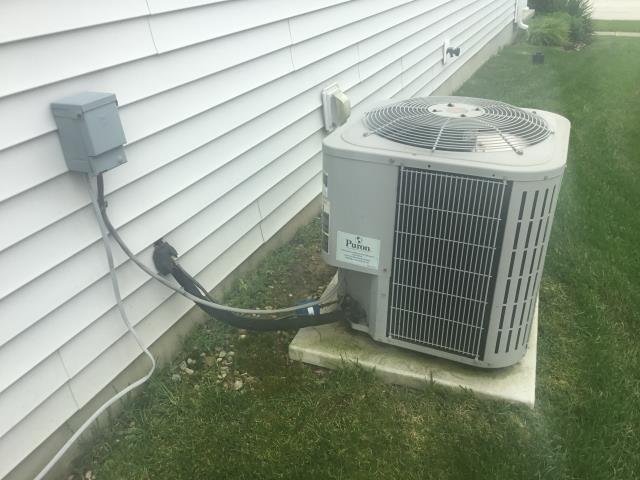 Blacklick, OH - I completed the spring tune up on a Bryant air conditioner.  I visually inspected the furnace.  Checked voltage and amps. I inspected the evaporator coil.  I checked the temperature difference across the coil.   Checked refrigerant charge, voltages and amps.  I rinsed the condenser coils with water.  Cycled and monitored the system.  Operating normally at this time.