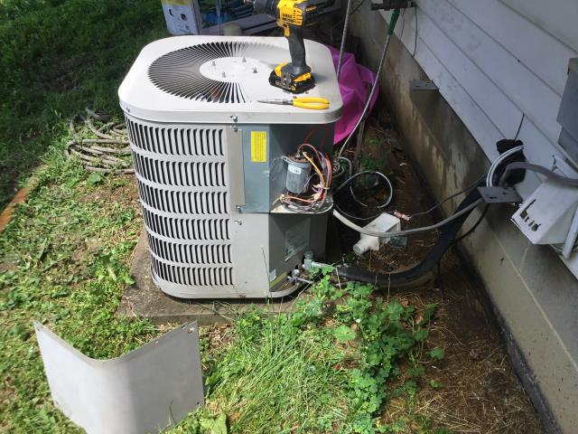 Reynoldsburg, OH - I completed a diagnostic service call on a Goodman air conditioner. I determined that the motor surge capacitor is what needed to be replaced. I replaced the capacitor, cycled and system is cooling properly.