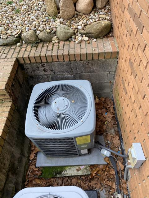 Canal Winchester, OH - I completed scheduled maintenance spring tune up on a  Goodman air conditioner.  I visually inspected the furnace.  Checked voltage and amps. I inspected the evaporator coil.  I checked the temperature difference across the coil.   Checked refrigerant charge, voltages and amps.  I rinsed the condenser coils with water.  Cycled and monitored the system.  Operating normally at this time.