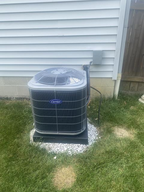 Delaware, OH - I completed an installation inspection on a Carrier 80% 45,000 BTU Gas Furnace and a Carrier 13 SEER 2 Ton Air Conditioner.  Completed installation checklist.  Cycled and monitored the system.  Operating normally at this time.